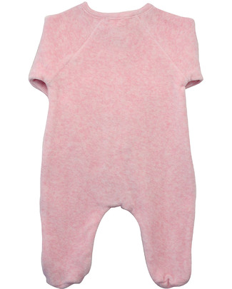 Serendipity Organics Pre Velour Suit Pink - 100% Organic Velour Babygrows