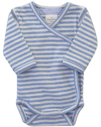 Serendipity Organics Pre Wrap Body Sky Blue/Off-white - 100% Organic Long Sleeves Bodies