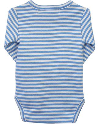 Serendipity Organics Pre Wrap Body Striped Blue/Ecru - 100% Organic Long Sleeves Bodies