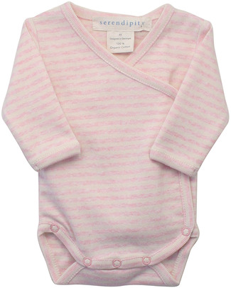 Serendipity Organics Pre Wrap Body Striped Pink/Ecru  - 100% Organic Long Sleeves Bodies