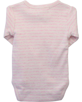Serendipity Organics Pre Wrap Body Striped Pink/Ecru  - 100% Organic Long Sleeves Bodies