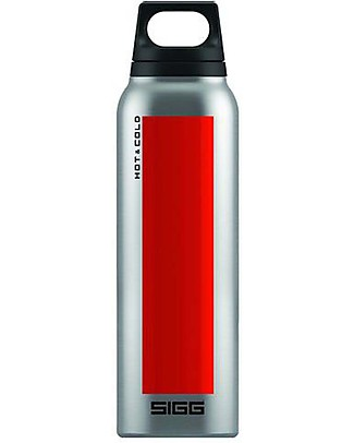 SIGG Thermo Hot and Cold Flask - Red and Steel - 0.5L! Thermos