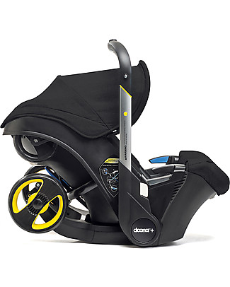 Simple Parenting Doona+ Car Seat with Wheels 2-in-1, Black - Also approved as a stroller! Car Seats