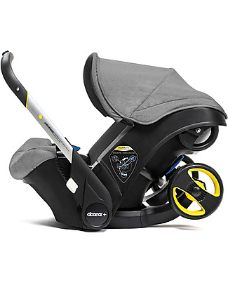 Simple Parenting Doona+ Car Seat with Wheels 2-in-1, Grey - Also approved as a stroller! Car Seats