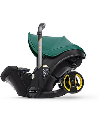 Simple Parenting Doona+ Car Seat with Wheels 2-in-1, Racing Green - Also approved as a stroller! Pushchairs