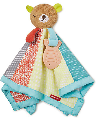 Skip Hop Camping Cubs Bear Lovey, From birth! - Tactile and Visual Stimulation! Newborn Toys