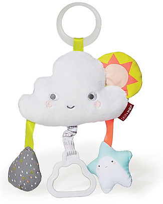 Skip Hop Cloud Jitter for Stroller - It vibrates when the Teether handle is Pulled! Rattles
