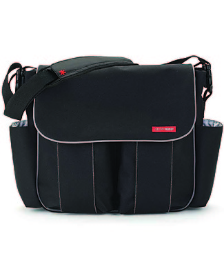 Skip Hop Dash Signature Diaper Bag, Black - Changing mattress included! Diaper Changing Bags & Accessories