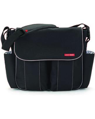 Skip Hop Dash Signature Diaper Bag, Black - Changing mattress included! Diaper Changing Bags & Accessories