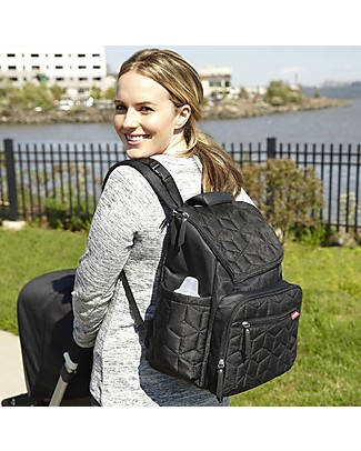 Skip Hop Diaper Backpack with Changing Pad, Black - Also great for everyday use! Large Backpacks