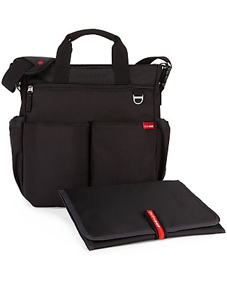 Skip Hop Duo Signature Diaper Bag, Black - Changing mattress included! Diaper Changing Bags & Accessories