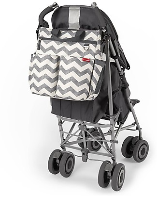Skip Hop Duo Signature Diaper Bag, Grey Chevron - Changing mattress included! Diaper Changing Bags & Accessories