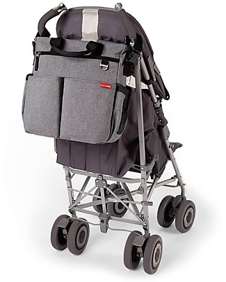 Skip Hop Duo Signature Diaper Bag, Grey Melange - Changing mattress included! Diaper Changing Bags & Accessories