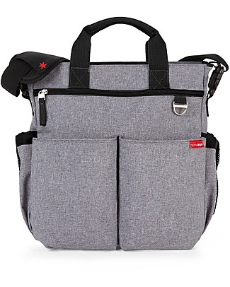 Skip Hop Duo Signature Diaper Bag, Grey Melange - Changing mattress included! Diaper Changing Bags & Accessories