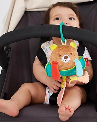 Skip Hop Fishing Bear Jitter, From birth! - It vibrates when the Teether handle is Pulled! Rattles