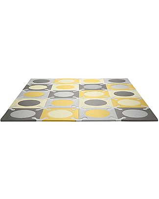 Skip Hop Playspot Interlocking Foam Tiles, Yellow-Grey - 20 large pieces! Playmats