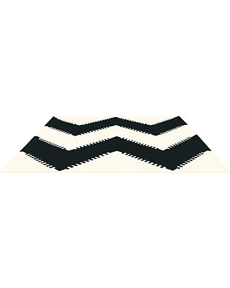 Skip Hop Playspot Triangular Interlocking Foam Tiles, Cream/Black - 40 large pieces! Playmats