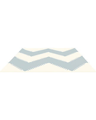 Skip Hop Playspot Triangular Interlocking Foam Tiles, Cream/Grey – 40 large pieces! Playmats