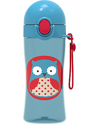 Skip Hop Sport Bottle for Kids, Owl - Locking Lid! BPA-Free Bottles