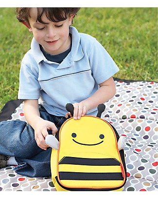 Skip Hop Zoo Insulated Kids Lunch Bag, Bee - Ideal on-the-go! (23x20x8 cm) null