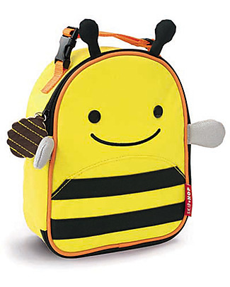 Skip Hop Zoo Insulated Kids Lunch Bag, Bee - Ideal on-the-go! (23x20x8 cm) Small Backpacks