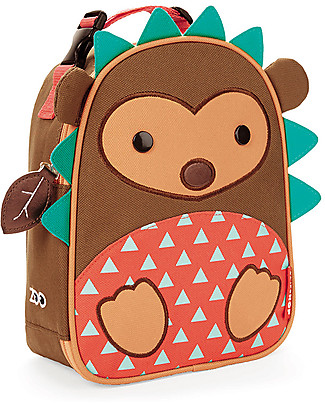 Skip Hop Zoo Insulated Kids Lunch Bag, Hedgehog - Ideal on-the-go! (23x20x8 cm) Small Backpacks