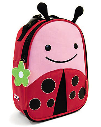 Skip Hop Zoo Insulated Kids Lunch Bag, LadyBug - Ideal on-the-go! (23x20x8 cm) Lunch Boxes
