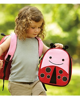 Skip Hop Zoo Insulated Kids Lunch Bag, LadyBug - Ideal on-the-go! (23x20x8 cm) Small Backpacks