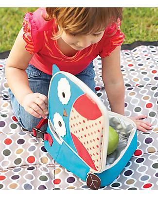 Skip Hop Zoo Insulated Kids Lunch Bag, Owl - Ideal on-the-go! (23x20x8 cm) Small Backpacks