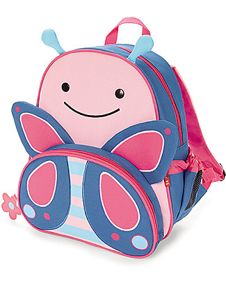 Skip Hop Zoo Little Kid Backpack (3+ years), Butterfly - Perfect for pre-Schoolers null