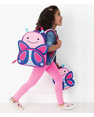Skip Hop Zoo Little Kid Backpack (3+ years), Butterfly - Perfect for pre-Schoolers Small Backpacks