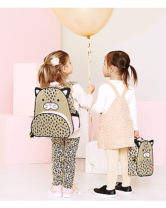 Skip Hop Zoo Little Kid Backpack (3+ years), Leopard - Perfect for pre-Schoolers Small Backpacks