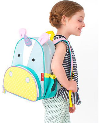 Skip Hop Zoo Little Kid Backpack (3+ years), Unicorn - Perfect for pre-Schoolers null