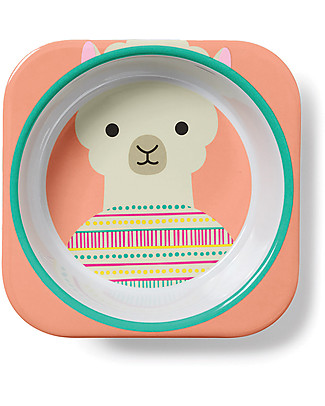 Skip Hop Zoo Little Kid Bowl in Melamine, Llama - Safe and Durable! Bowls & Plates