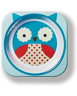 Skip Hop Zoo Little Kid Bowl in Melamine, Owl - Safe and Durable! Bowls & Plates