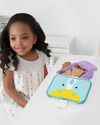 Skip Hop Zoo Little Kid Lunch Case, Unicorn - Perfect for School or at the Park! Snack and Formula Containers