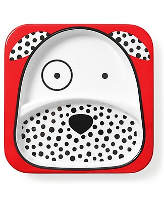Skip Hop Zoo Little Kid Plate and Bowl Set in Melamine, Dalmatian - Safe and Durable! Meal Sets