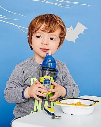 Skip Hop Zoo Straw Bottle for Kids, Bat - Flip-top Lid! BPA-Free Bottles
