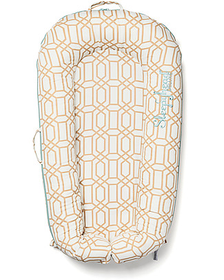 SleepyHead Cover for Sleepyhead Deluxe+ from 0 to 8 months, Goldy Trellis - 100% Oeko-Tex certified cotton Mattresses