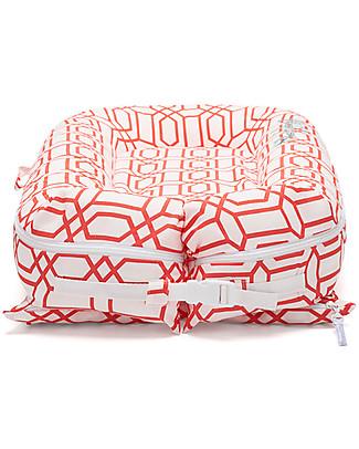 SleepyHead Sleepyhead Deluxe+, 0 to 8 months, Coral Trellis - 100% Oeko-Tex certified cotton, removable cover Baby Nest