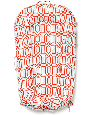 SleepyHead Sleepyhead Deluxe+, 0 to 8 months, Coral Trellis - 100% Oeko-Tex certified cotton, removable cover Mattresses