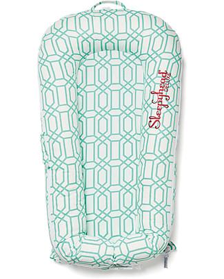 SleepyHead Sleepyhead Deluxe+, 0 to 8 months, Mint Trellis - 100% Oeko-Tex certified cotton, removable cover Mattresses