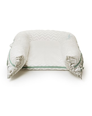 SleepyHead Sleepyhead Grand Pod with Removable Cover, 9 to 36 months, Silver Lining - 100% cotton Baby Nest