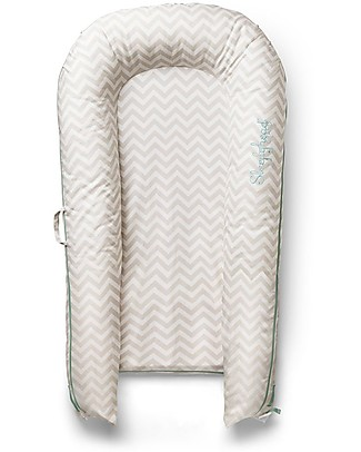 SleepyHead Sleepyhead Grand Pod with Removable Cover, 9 to 36 months, Silver Lining - 100% cotton Mattresses