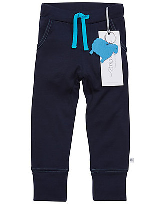 Smalls 24/7 Trouser for Boy in 100% Merino Wool, Navy Trousers