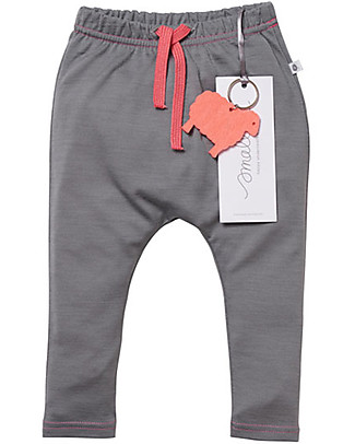 Smalls Aroha, Baby 24/7 Trouser in 100% Merino Wool, Grey Trousers