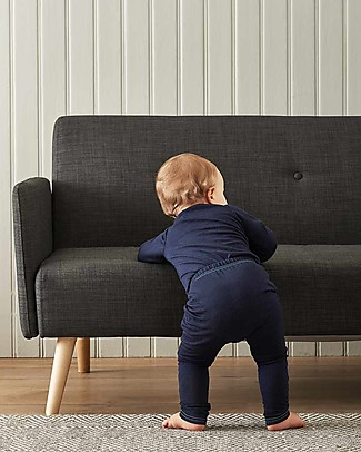 Smalls Aroha, Baby 24/7 Trouser in 100% Merino Wool, Navy Trousers