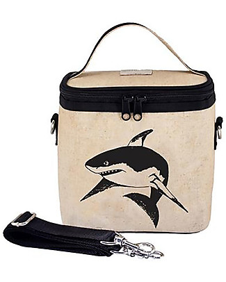 SoYoung Large Raw Linen Cooler Bag, Black Shark – Insulated, machine washable! Lunch Boxes