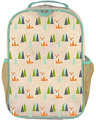 SoYoung Raw Linen Grade School Backpack, Olive Fox – Machine washable! Small Backpacks