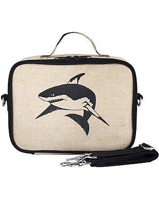SoYoung Raw Linen Lunch Box, Black Shark – Insulated, machine washable! Lunch Boxes